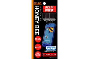 【HONEY BEE® SoftBank 101K/HONEY BEE® WILLCOM WX06K】高光沢防指紋保護フィルム 1枚入