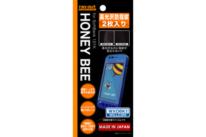 【HONEY BEE® SoftBank 101K/HONEY BEE® WILLCOM WX06K】高光沢防指紋保護フィルム 2枚入