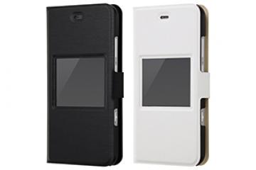 【SoftBank AQUOS Xx3 mini/au AQUOS SERIE mini SHV38】手帳型ケース スリム 小窓付き
