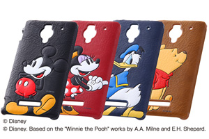 【AQUOS PHONE Xx 302SH/Disney Mobile on SoftBank DM016SH】ディズニー・ポップアップ・レザージャケット(合皮タイプ)