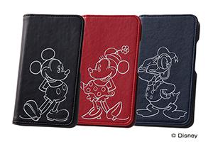 【AQUOS Compact/Disney Mobile on docomo DM-01H/AQUOS Xx2 mini/AQUOS SERIE mini/AQUOS mini】ディズニー・ホットスタンプ・ブックレザーケース(合皮)