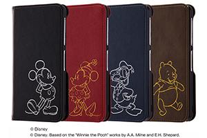 【AQUOS EVER/AQUOS U/Disney Mobile on docomo DM-01J/UQmobile AQUOS L/SH-M04/SH-M04-A/AQUOS L2】ディズニーキャラクター/手帳型ケース ホットスタンプ ワンポイント
