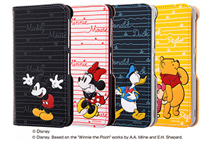 【AQUOS EVER/AQUOS U/Disney Mobile on docomo DM-01J/UQmobile AQUOS L/SH-M04/SH-M04-A/AQUOS L2】ディズニーキャラクター/手帳型ケース スタンディング カーシヴ