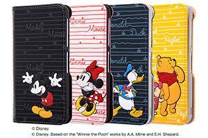 【AQUOS EVER/AQUOS U/Disney Mobile on docomo DM-01J/UQmobile AQUOS L/SH-M04/SH-M04-A/AQUOS L2】ディズニーキャラクター/手帳型ケース スタンディング カーシヴ