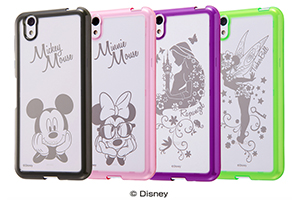 【AQUOS EVER/AQUOS U/Disney Mobile on docomo DM-01J/UQmobile AQUOS L/SH-M04/SH-M04-A/AQUOS L2】ディズニーキャラクター/ハイブリッドケース