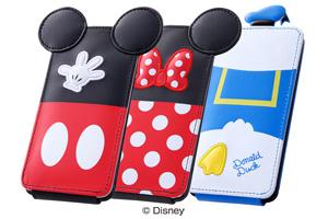 【Disney Mobile on docomo F-03F】ディズニー・ダイカット・レザージャケット(フラップ合皮タイプ)