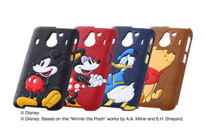 【Disney Mobile on docomo F-03F】ディズニー・ポップアップ・レザージャケット(合皮タイプ)