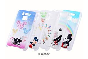 【Disney Mobile on docomo F-07E】ディズニーキャラクター・クリアラメ・シェルジャケット