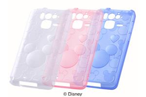 【Disney Mobile on docomo F-07E】ディズニーキャラクター・キラキラソフトジャケット