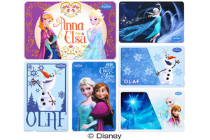 【SuicaやPASMOなどの各種ICカード】ICカードステッカー(アナと雪の女王)