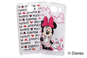 【Disney Mobile on SoftBank DM010SH/SoftBank AQUOS PHONE THE PREMIUM 009SH】ディズニーキャラクター・クリアラメ・シェルジャケット
