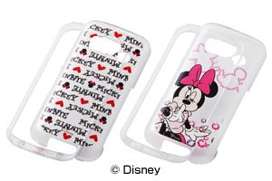 【Disney Mobile on SoftBank DM011SH/SoftBank AQUOS PHONE THE HYBRID 101SH】ディズニーキャラクター・クリアラメ・ハードジャケット