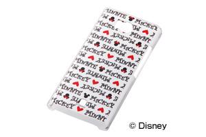 【Disney Mobile on SoftBank DM012SH/SoftBank AQUOS PHONE 103SH】ディズニーキャラクター・クリアラメ・シェルジャケット