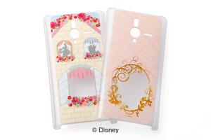 【Disney Mobile on SoftBank DM014SH/SoftBank PANTONE® 6 200SH】ディズニーキャラクター・クリアラメ・シェルジャケット