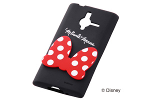 【Disney Mobile on SoftBank DM014SH/SoftBank PANTONE® 6 200SH】ディズニーキャラクター・ダイカット・シリコンジャケット