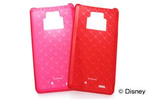 【Disney Mobile on docomo F-08D/docomo REGZA Phone T-01D】ディズニーキャラクター・キラキラ・ソフトジャケット
