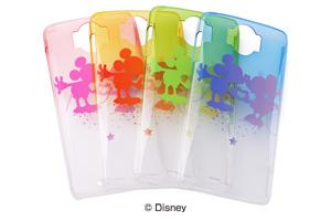 【Disney Mobile on docomo N-03E】ディズニーキャラクター・グラデーション・クリアラメ・シェルジャケット