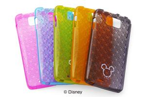 【Disney Mobile on docomo N-03E】ディズニーキャラクター・キラキラ・ソフトジャケット【生産終了】