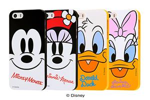 【Apple iPhone SE/iPhone 5s/iPhone 5】ディズニー TPUソフトケース クローズアップ
