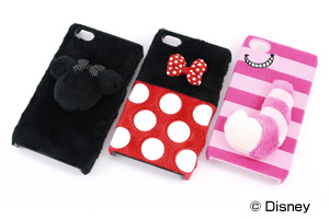 【AppleiPhone 4S、iPhone 4シリーズ】ディズニーキャラクター・ふわふわジャケット【生産終了】