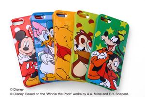 【Apple iPhone SE/iPhone 5s/iPhone 5】ディズニーキャラクター・3Dレリーフ・ソフトジャケット