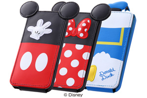 【Apple iPhone SE/iPhone 5s/iPhone 5】ディズニー・ダイカット・レザージャケット(フラップ合皮タイプ)