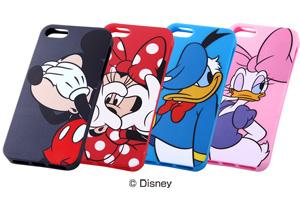【Apple iPhone SE/iPhone 5s/iPhone 5】ディズニー・クローズアップソフトジャケット