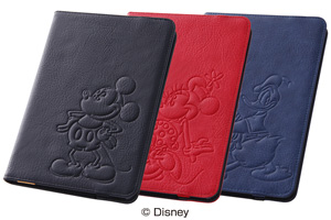 【Apple iPad mini 3、iPad mini 2】ディズニー・レザージャケット(合皮タイプ)
