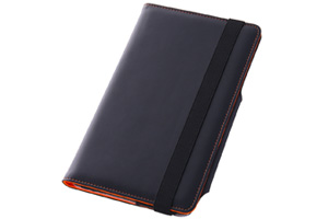 【LG G Pad 8.3】スリープモード対応フラップタイプ・レザージャケット(合皮タイプ)