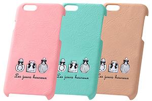 【Apple iPhone 6/iPhone 6s】スマホ女子・ジュエリー・レザージャケット(合皮タイプ)