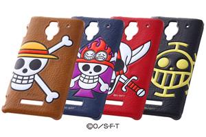 【AQUOS PHONE Xx 302SH/Disney Mobile on SoftBank DM016SH】ワンピース・ポップアップ・レザージャケット(合皮タイプ)