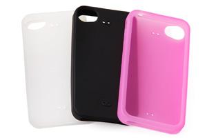 【Apple iPhone 4S】シルキータッチ・シリコンジャケット