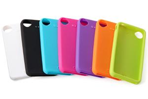 【Apple iPhone 4S】スリップガード・シリコンジャケット