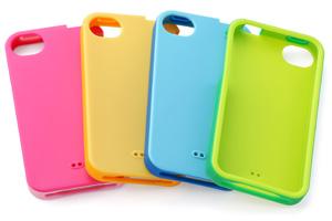 【Apple iPhone 4S】ダブルカラー・ソフトジャケット