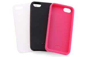 【Apple iPhone SE/iPhone 5s/iPhone 5】シルキータッチ・シリコンジャケット