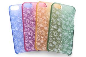【Apple iPhone SE/iPhone 5s/iPhone 5】フローラル・デザイン・シェルジャケット
