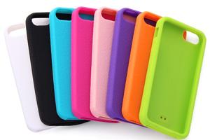 【Apple iPhone SE/iPhone 5s/iPhone 5】スリップガード・シリコンジャケット