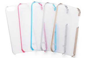 【Apple iPhone SE/iPhone 5s/iPhone 5】ハードコーティング・グリッター・シェルジャケット