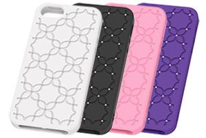 【Apple iPhone SE/iPhone 5s/iPhone 5】フラワー・ジュエリー・シリコンジャケット