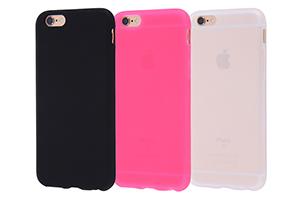 【Apple iPhone 6】シルキータッチ・シリコンジャケット