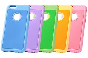 【Apple iPhone 6/iPhone 6s】カラフル・シリコンジャケット