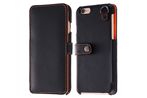 【Apple iPhone 6/iPhone 6s】ブックカバータイプ・レザージャケット(合皮タイプ)