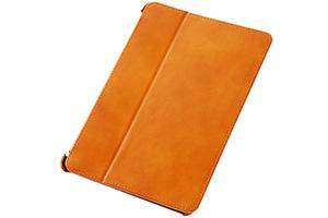 【Apple iPad mini 3、iPad mini 2】スリープモード対応フラップタイプ・レザージャケット(本革タイプ)
