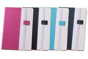 【Apple iPad mini 4】バイカラー・ブックレザーケース(合皮)