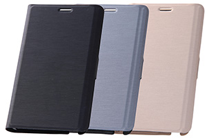 【docomo GALAXY Note Edge SC-01G/au GALAXY Note Edge SCL24】スリム・レザージャケット(合皮タイプ)