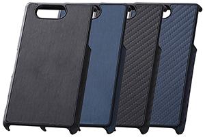 【Xperia™ Z3 Compact SO-02G】オープンタイプ・テクスチャー・レザージャケット(合皮タイプ)