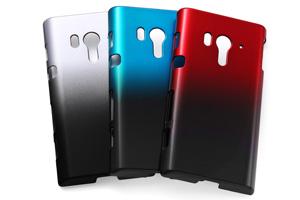 【docomo Xperia™  acro HD SO-03Dau Xperia™  acro HD IS12S】ハードコーティング・グラデーション・シェルジャケット