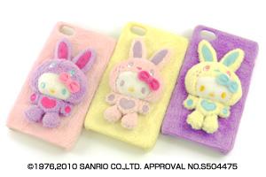 【AppleiPhone 4S、iPhone 4シリーズ】サンリオキャラクター・ふわふわジャケット【生産終了】