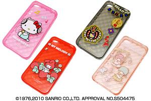 【Apple iPhone 4】サンリオキャラクター・キラキラ・ソフトジャケット【生産終了】