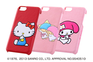 【Apple iPhone 5c】サンリオキャラクター・ポップアップ・レザージャケット(合皮タイプ)